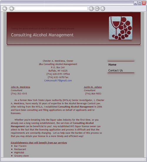Consulting Alcohol Management Home